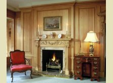 A Hallidays Pine panelled drawing room with fine antiques sourced by Hallidays
