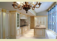 A bespoke painted and gilded Halliday's kitchen