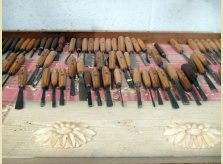 A selection of traditional tools used by Hallidays' master craftsmen