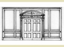 Hallidays' Adam style double door plans