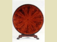 A magnificent early 19th Century, William IV flamed mahogany centre table with segmented matched veneers