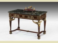 French gilt-bronze mounted centre table with marble top, circa 1880
