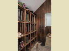 Boot room with Oak boot rack