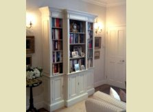 Breakfront painted bookcase