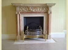 Carved, hand painted Heyford mantelpiece with marble effect finish