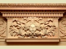Detailed Mantelpiece Carving