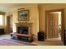 Entry Hall with classic pine doors, matching architraves and skirting