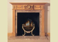Garford mantelpiece with central shell motif flanked by swags
