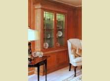 Glazed bookcase or display cabinet with internal lighting