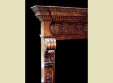 Detailed Hand Carved Mantelpiece