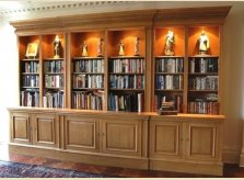 Large freestanding bookcase with illuminated display shelving.jpg