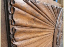 Linenfold panelling effect on large hand carved panel