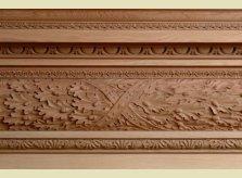 Centre detail of Hand Carved Oak Leaf Mantelpiece