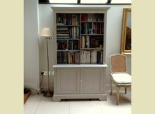 Hallidays painted cabinet with adjustable bookshelves