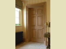 Pine door with matching architrave and skirting boards