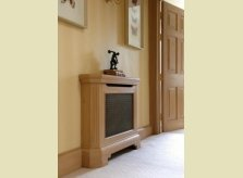 Radiator cover in Pine with matching door, architrave and skirting