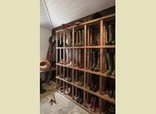 Slatted Oak rack in boot room