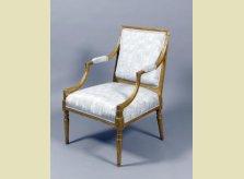 George III giltwood upholstered armchair