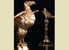 An imposing solid brass 19th Century lectern surmounted by a splendid eagle bookrest