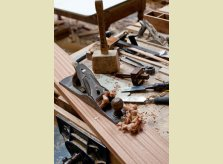 Traditional tools and skills are still used  in Hallidays' Oxfordshire workshop