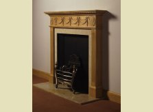 The elegant Culham mantel with simple carved swag design